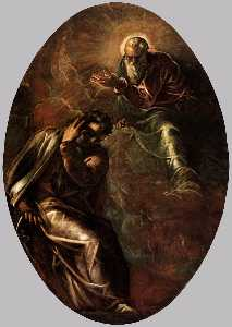 Jacopo Tintoretto - The Eternal Father Appears to Moses