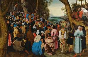 Pieter Brueghel The Younger - Saint John the Baptist preaching to the masses in the wilderness
