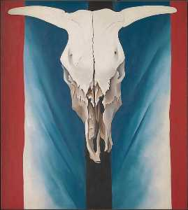Georgia Totto O'keeffe - Cow's Skull Red, White, and Blue