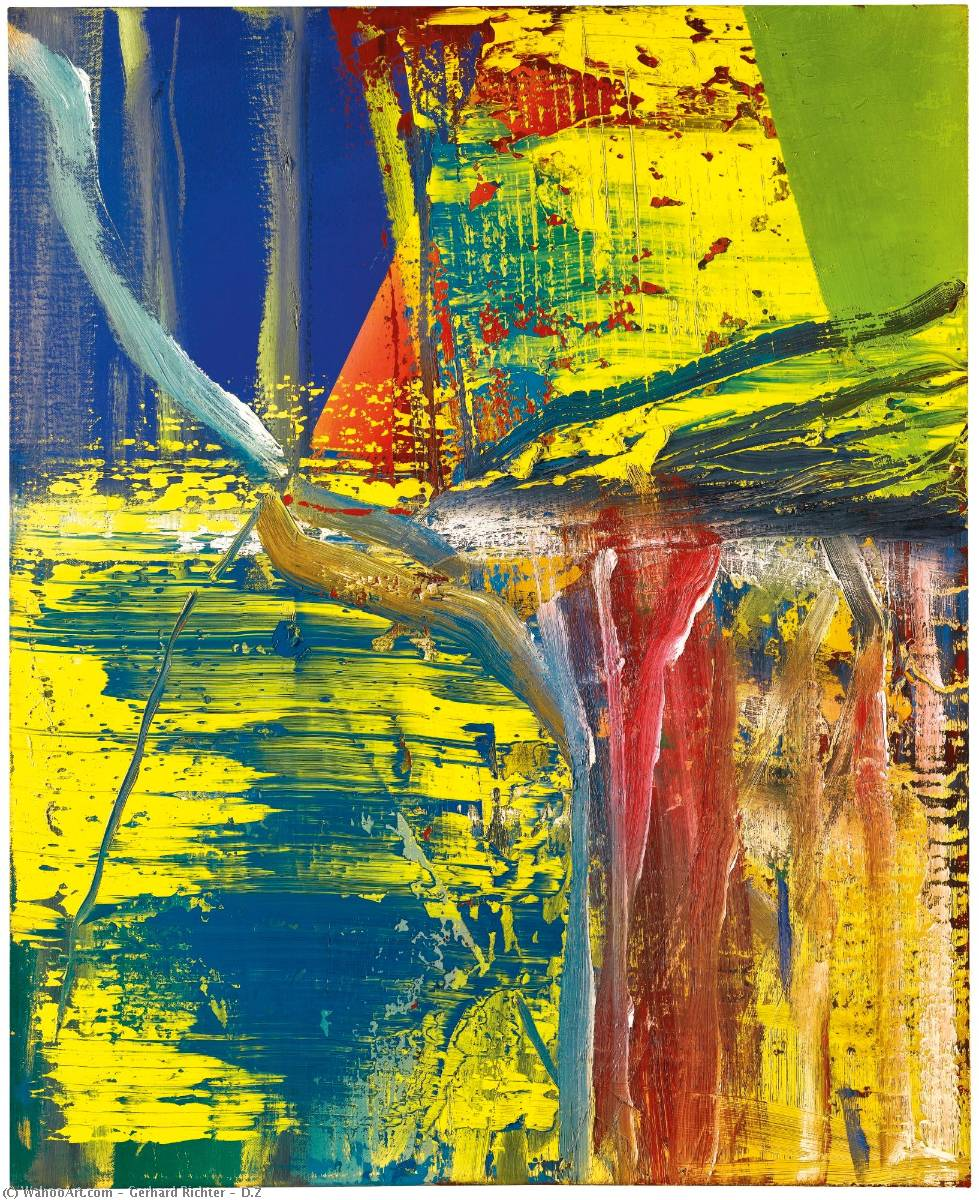 D.Z, Oil On Canvas by Gerhard Richter