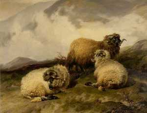 Thomas Sidney Cooper - Mountain Sheep (also known as Morning Mist Clearing Off)
