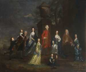 Joshua Reynolds - Richard Eliot and Family