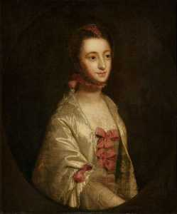 Joshua Reynolds - Portrait of a Young Woman (called 'Miss Axford', reputedly Hannah Lightfoot, 1730–c.1759, Mrs Axford, 'The Fair Quakeress')