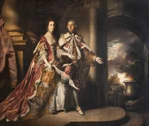 Joshua Reynolds - The Earl and Countess of Mexborough with Their Son, Lord Pollington (1719–1778)