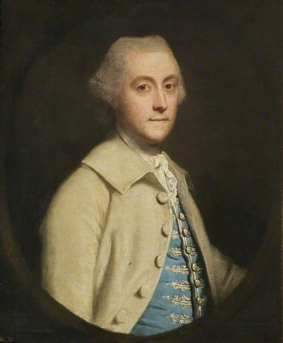 Order Paintings Reproductions | William, Lord Bagot (1728–1798), 1762 by Joshua Reynolds (1723-1792, United Kingdom) | WahooArt.com