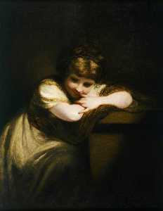 Joshua Reynolds - Girl Leaning on a Pedestal
