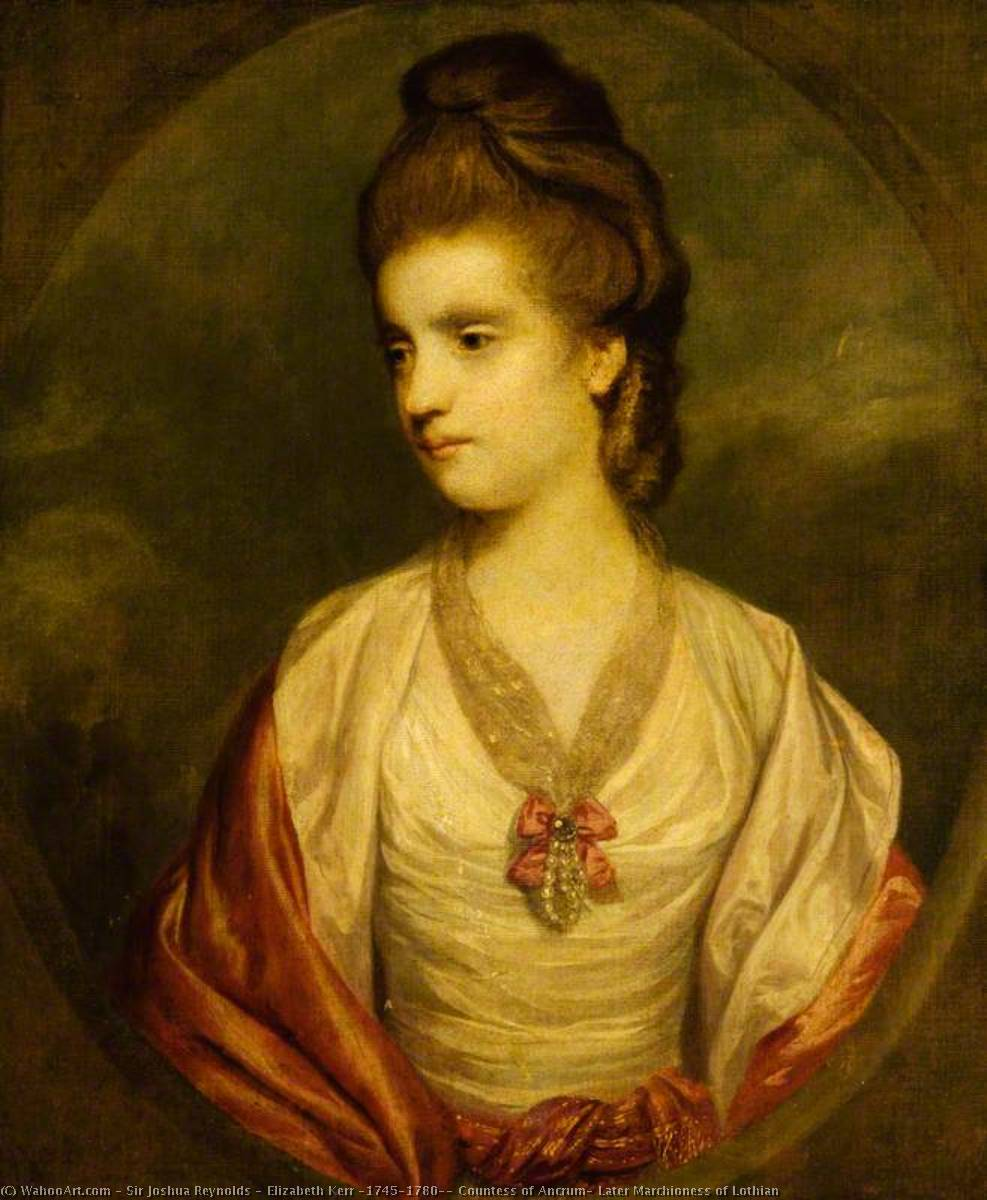 Order Reproductions | Elizabeth Kerr (1745–1780), Countess of Ancrum, Later Marchioness of Lothian by Joshua Reynolds (1723-1792, United Kingdom) | WahooArt.com