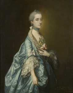 Thomas Gainsborough - Ann Leyborne Leyborne