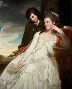 George Romney - Jane Maxwell (c.1749–1812), Duchess of Gordon, Wife of the 4th Duke of Gordon, with her Son, George Duncan (1770–1836), Marquess of Huntly, Later 5th Duke of Gordon