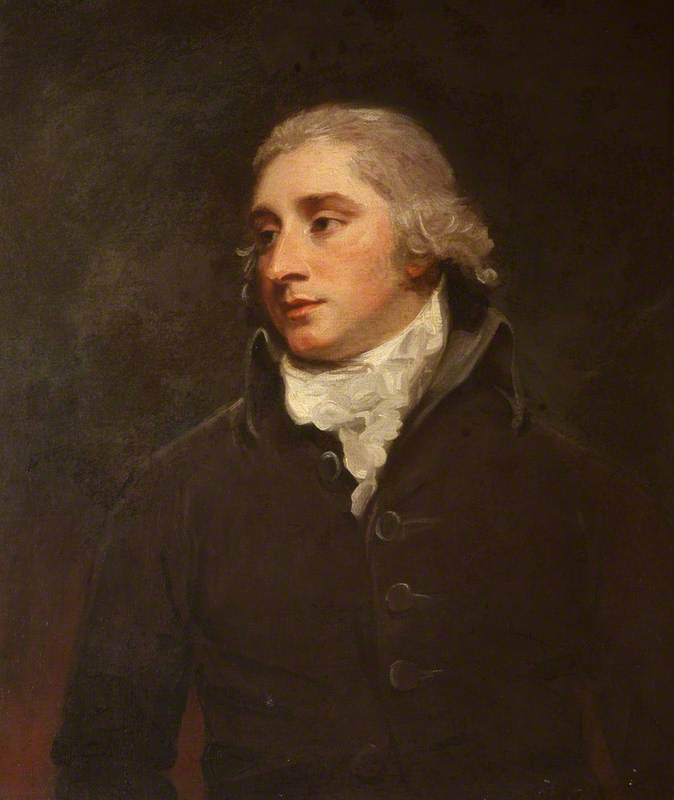 Sir John Trevelyan (1761–1846), 5th Bt, 1788 by George Romney (1734-1802, United Kingdom) | Oil Painting | WahooArt.com