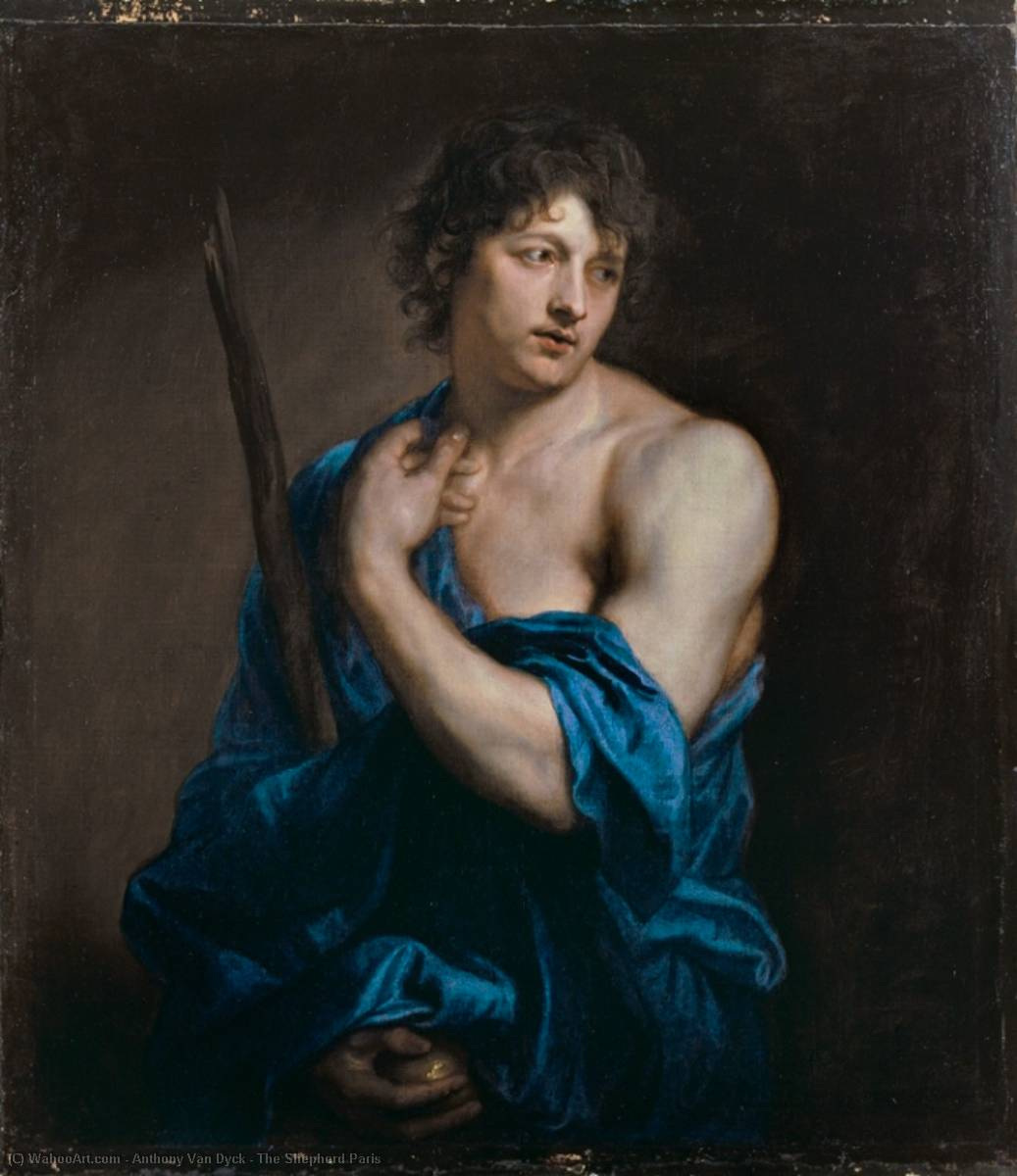 The Shepherd Paris, 1628 by Anthony Van Dyck (1599-1641, Belgium) | Reproductions Anthony Van Dyck | WahooArt.com