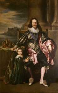 Anthony Van Dyck - Charles I (1600–1649), and Prince Charles (1630–1685)