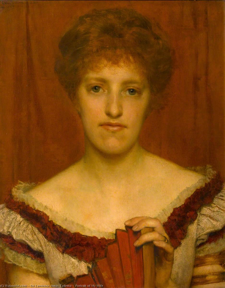 Portrait of My Wife, 1876 by Lawrence Alma-Tadema (1836-1912, Netherlands) | Painting Copy | WahooArt.com