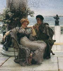 Lawrence Alma-Tadema - Courtship (The Proposal)