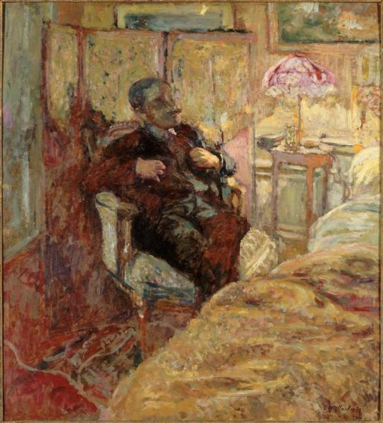 PORTRAIT DE ROMAIN COOLUS by Jean Edouard Vuillard (1868-1940, France) | Oil Painting | WahooArt.com