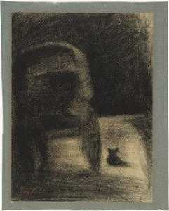 Georges Pierre Seurat - Carriage and Dog (La Carriole et le chien)