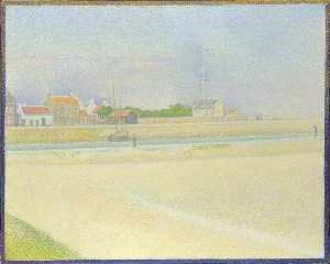 Georges Pierre Seurat - The Channel of Gravelines, Grand Fort Philippe