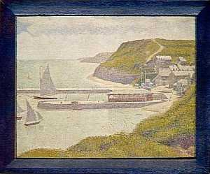 Georges Pierre Seurat - PORT EN BESSIN, AVANT PORT, MAREE HAUTE