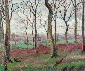 Lucien Pissarro - The Dunmow Road from Tilty Wood