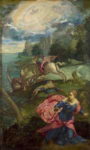 Jacopo Tintoretto - Saint George and the Dragon