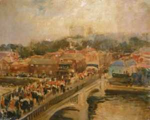 Jacques-Emile Blanche - Eton Bridge, Windsor and the Horse Guards