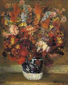 Jacques-Emile Blanche - Flowers in a Pot