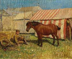 Alfred James Munnings - Behind the Tents