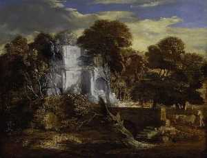 Thomas Gainsborough - Landscape with Herdsman and Cows Crossing a Bridge