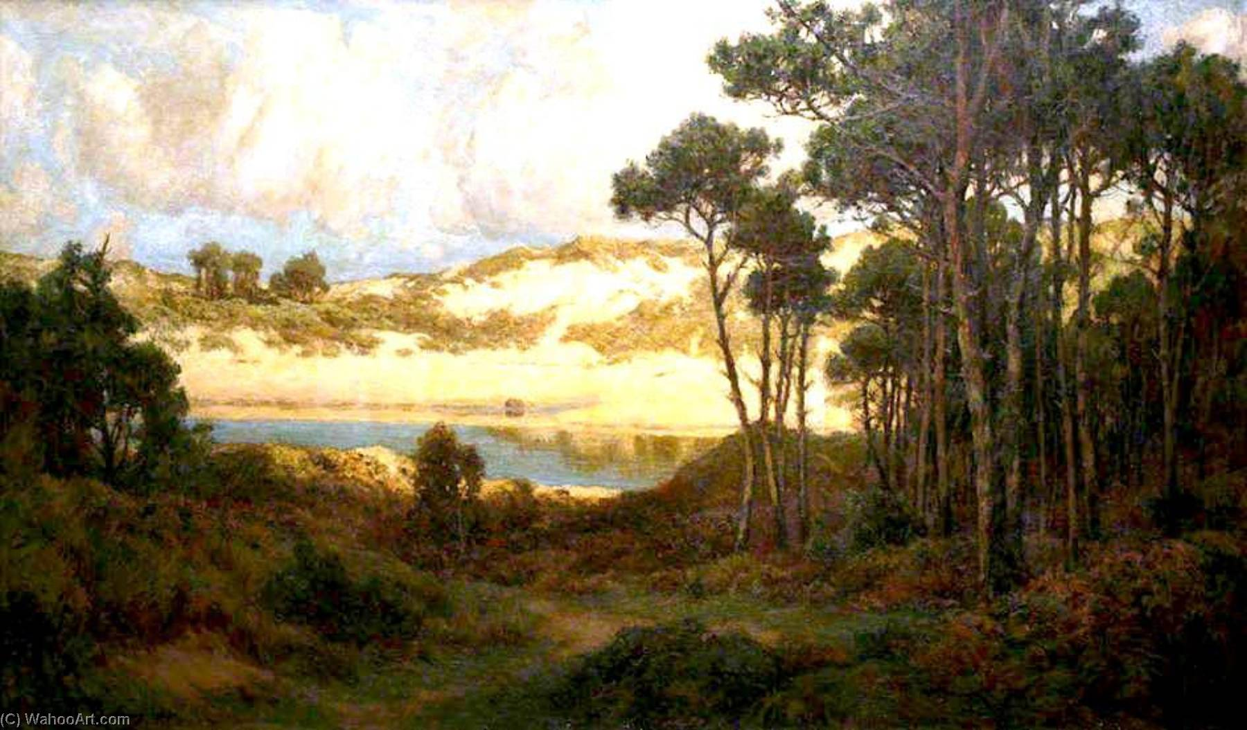 The Estuary, Oil On Canvas by John Noble Barlow (1861-1918, United Kingdom)