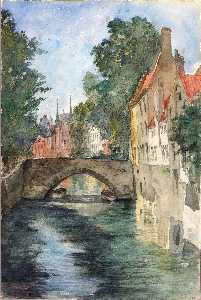 Cass Gilbert - On the Canal, Bruges