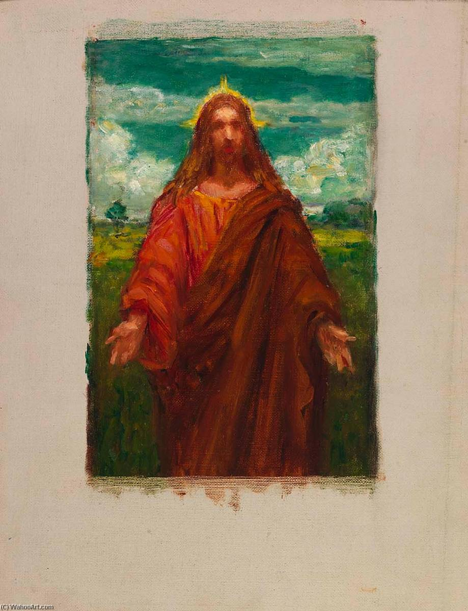 Study for Christ, 1905 by Kenyon Cox (1856-1919) | Art Reproduction | WahooArt.com