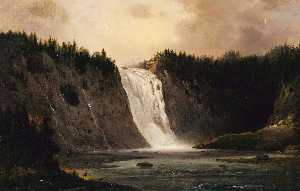 Robert Seldon Duncanson - Waterfall on Mont Morency