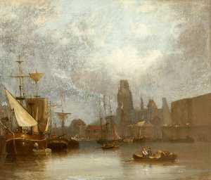 John H (Jock) Wilson - St Mary Redcliffe from the Floating Harbour