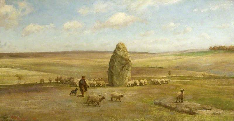 Heel Stone, Oil On Canvas by Edgar Barclay