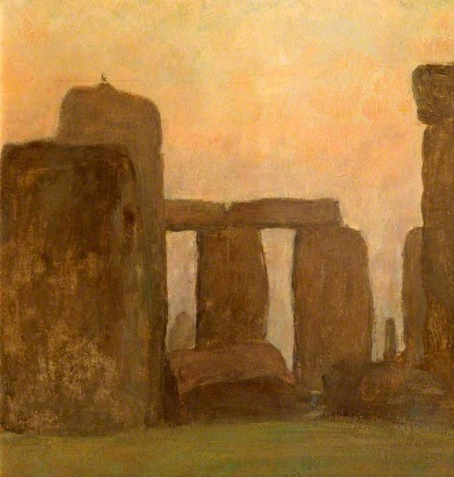 Stonehenge at Sunrise, Wiltshire, Oil On Canvas by Edgar Barclay
