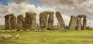 Edgar Barclay - Stonehenge from the West, Wiltshire