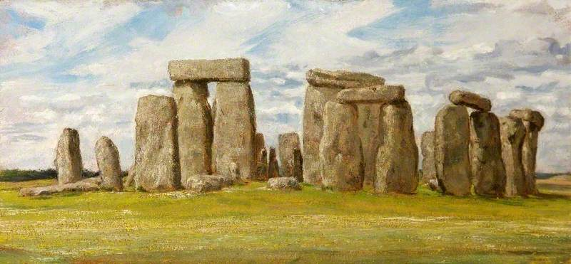 Stonehenge from the East, Wiltshire, Oil On Canvas by Edgar Barclay