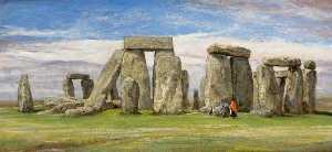 Edgar Barclay - Stonehenge from the South, Wiltshire