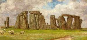 Edgar Barclay - Stonehenge from the South East, Wiltshire