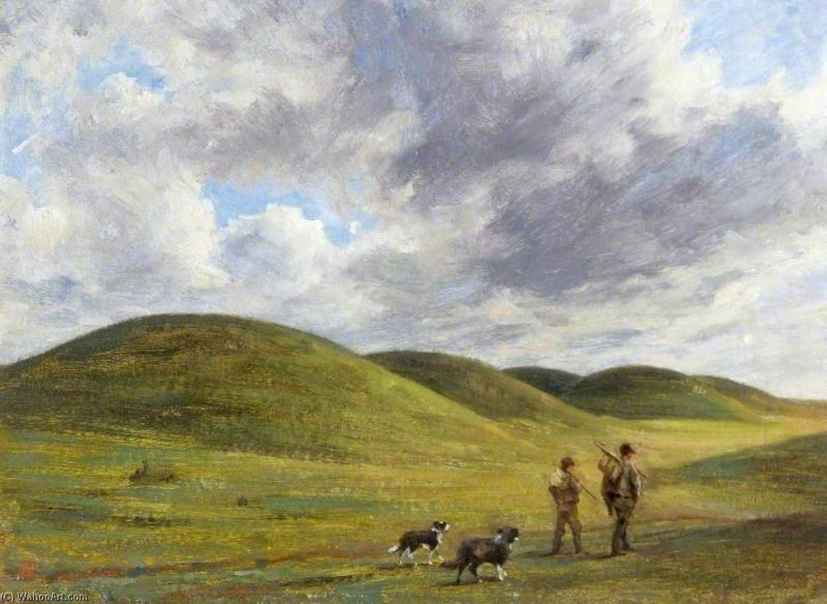 Barrows on Beacon Hill, Wiltshire, Oil On Canvas by Edgar Barclay