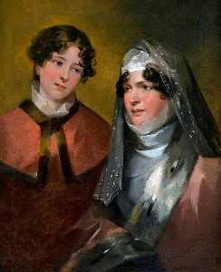 John Watson Gordon - Mrs Brown of Newhall, Penicuik, and Her Daughter