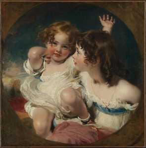 Thomas Lawrence - The Calmady Children (Emily, 1818 1906, and Laura Anne, 1820 1894)
