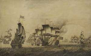 Adriaen Van Salm - Forbin's Attempt against Scotland, 13 March 1708
