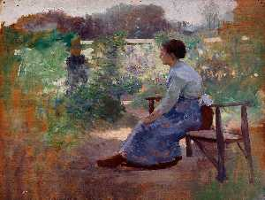 Eliphalet Fraser Andrews - Woman Seated in a Garden