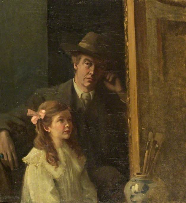 Self Portrait with Rachel Hill, 1914 by Walford Graham Robertson | Painting Copy | WahooArt.com