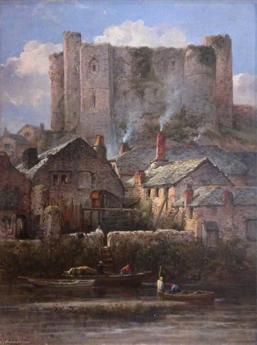 Haverfordwest Castle, 1872 by William Pitt | Museum Quality Reproductions | WahooArt.com
