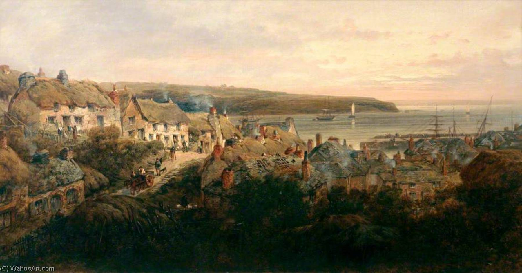 St Mawes, Cornwall, 1872 by William Pitt | Art Reproduction | WahooArt.com