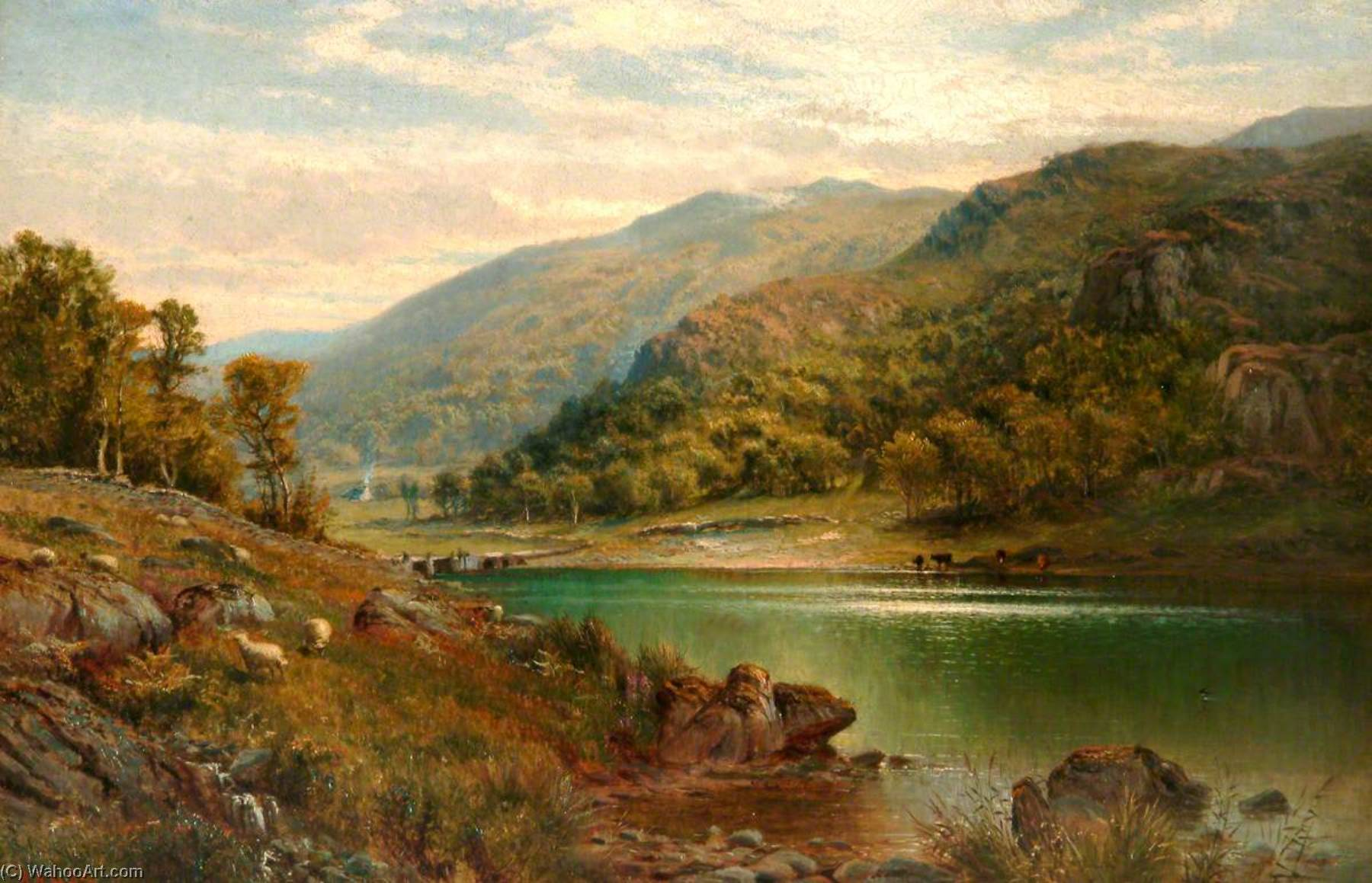 Order Reproductions | Llyn Mymbyr, Capel Curig by Alfred Augustus Glendening | WahooArt.com