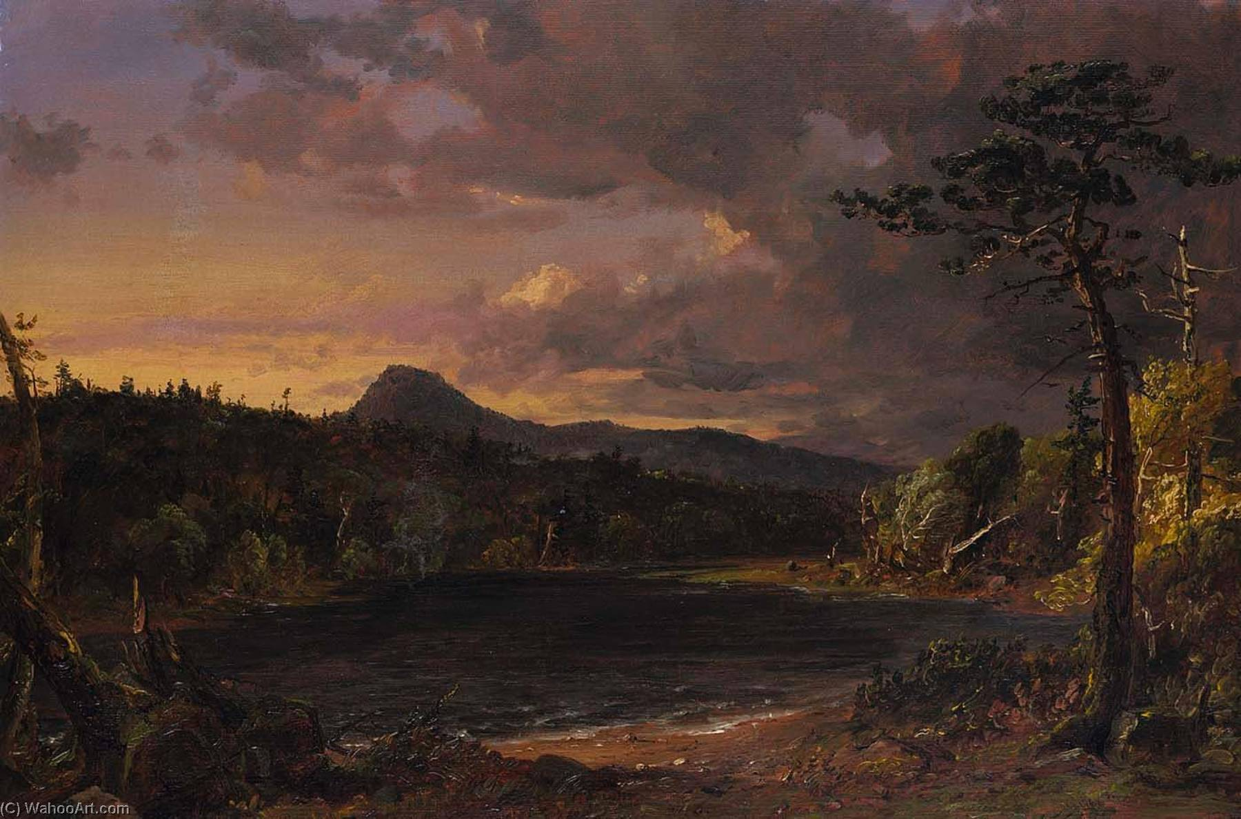 Catskill Creek, 1850 by Jasper Francis Cropsey (1823-1900, United States) | Museum Quality Reproductions | WahooArt.com