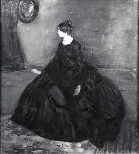Alfred Henry Maurer - Woman in Black, (painting)